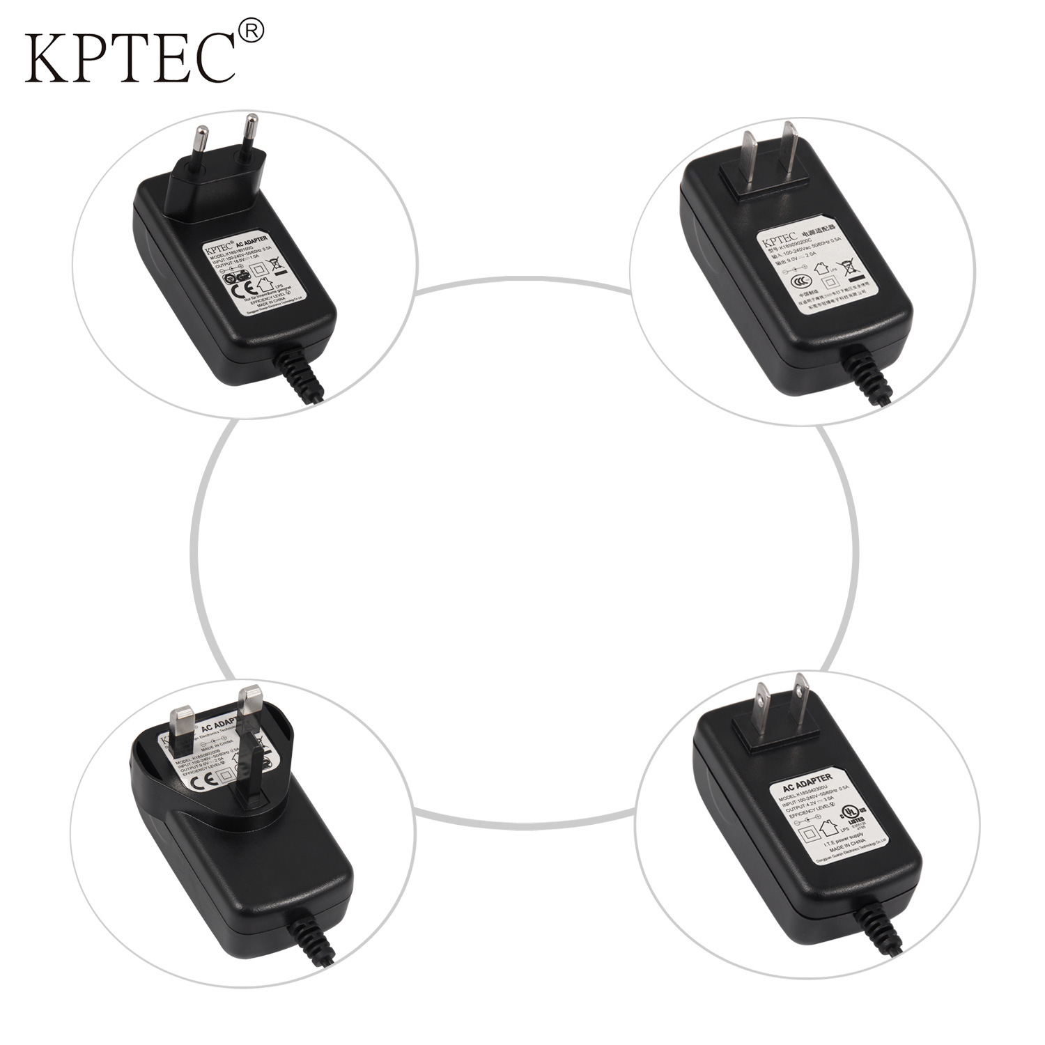 18W 12V 1.2A Power Adapter with USA Standard Plug