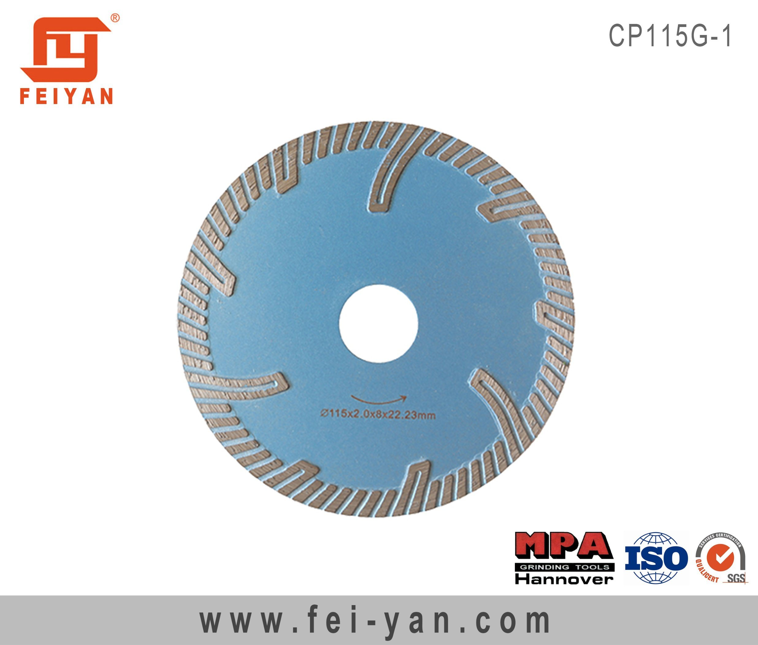 Turbo Blade with Protective for Granite