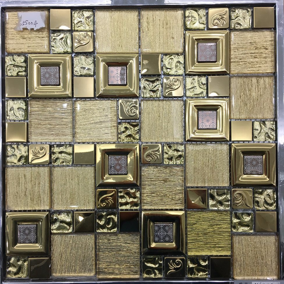 Jbn Silver Color Tile Glass Mosaic for TV Wall, Border Decoration (M655002)
