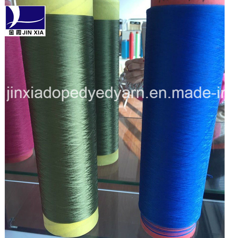 100% Polyester Filament Yarn DTY 60d/48f Dope Dyed Elastic Textured