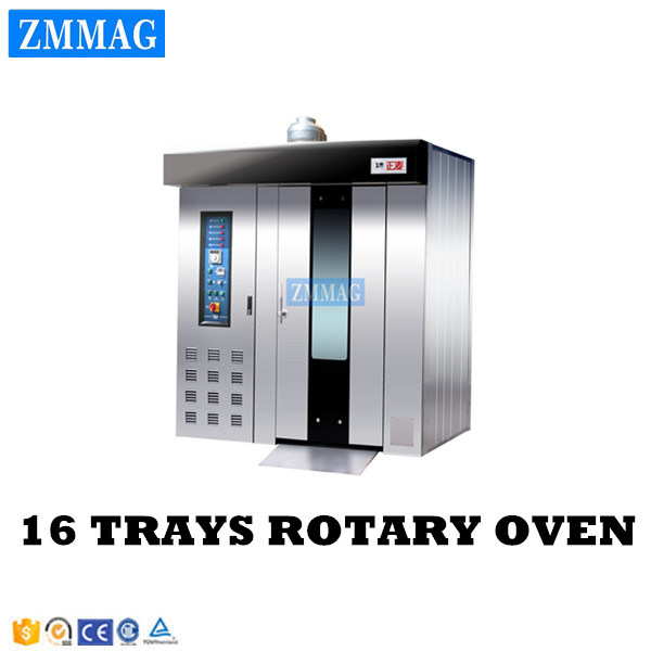 Mini Disel Diesel Chicken Bread 16 Trays Rotary Oven for Pizza Italy (ZMZ-16C)