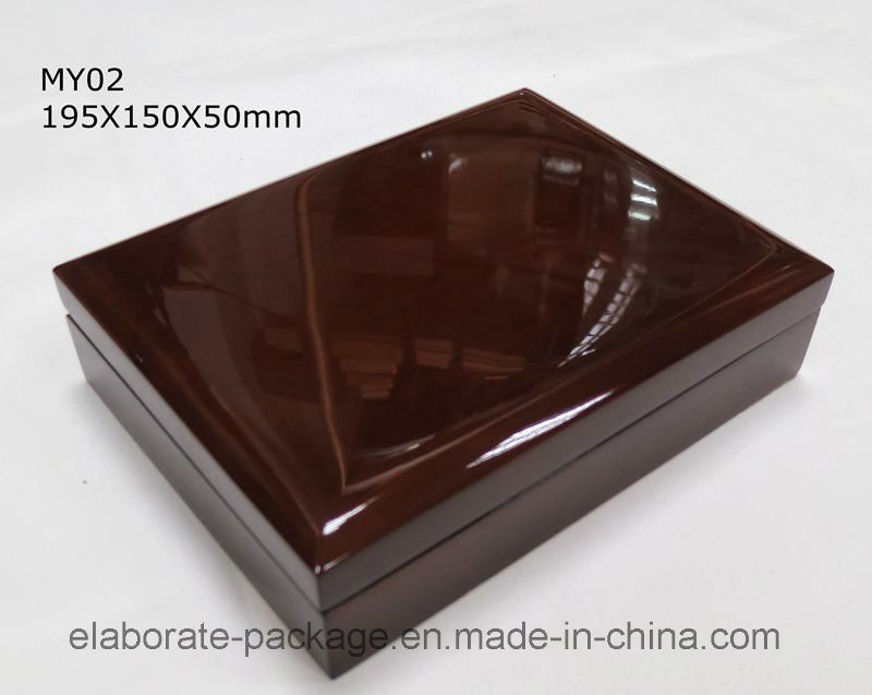 Piano Finish Wooden Packaging Ring Box with 12 Layers Wood Box