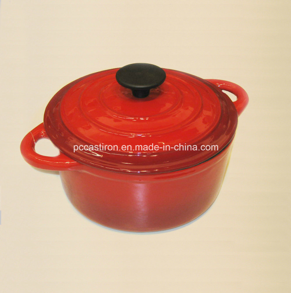Green Enamel Cast Iron Casserole with Bakelite Knob