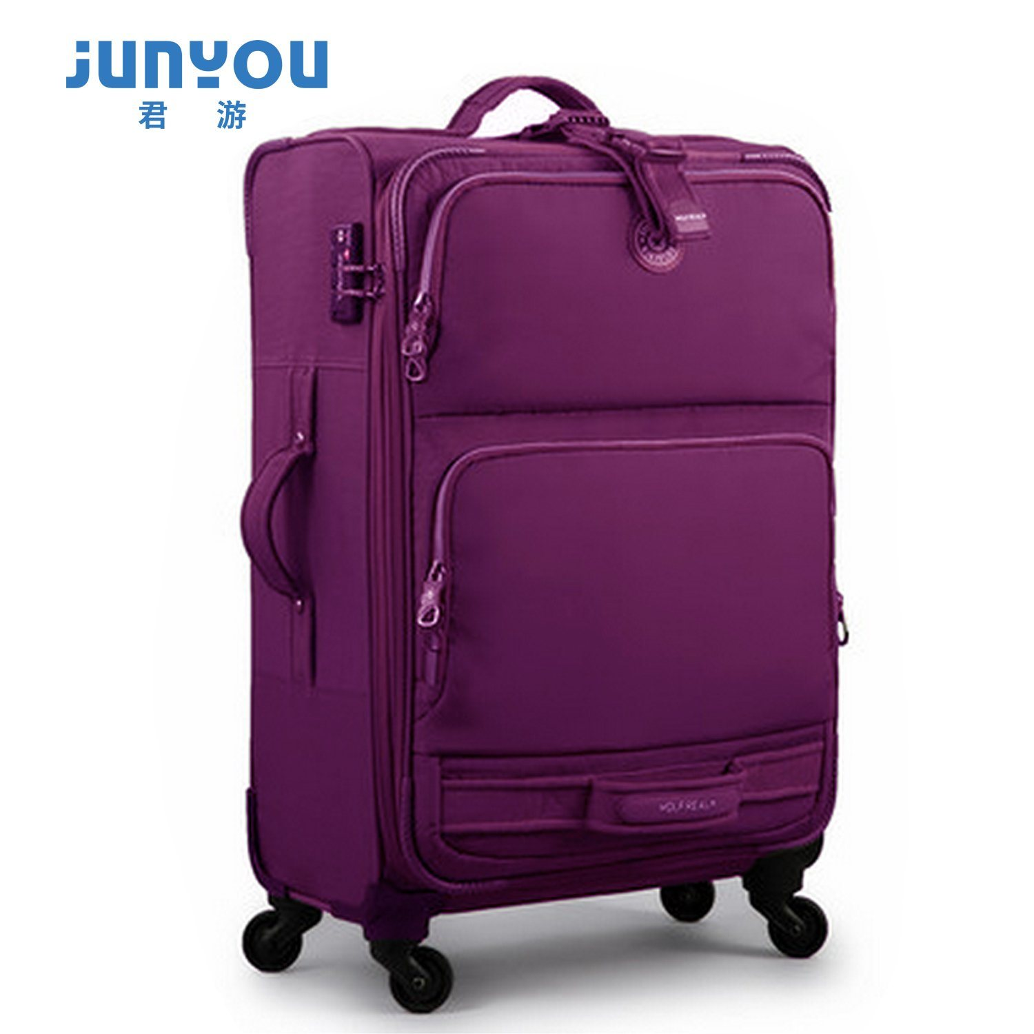 Hot Sale Fashion 4 Wheels 20 24 Inch Nylon Soft Luggage