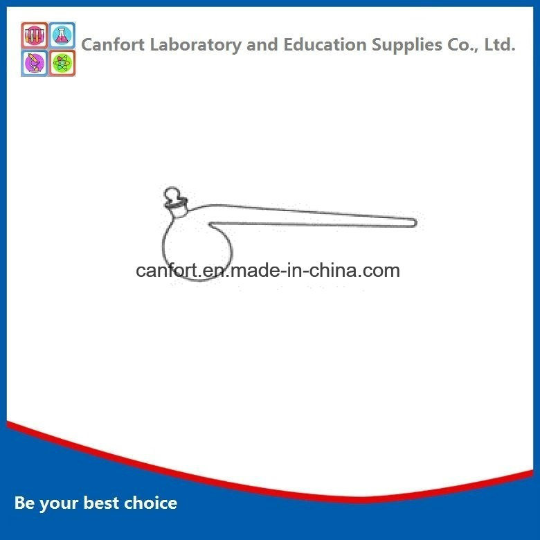 Laboratory Glassware Retort, with Ground-in Glass Stopper, Boro 3.3