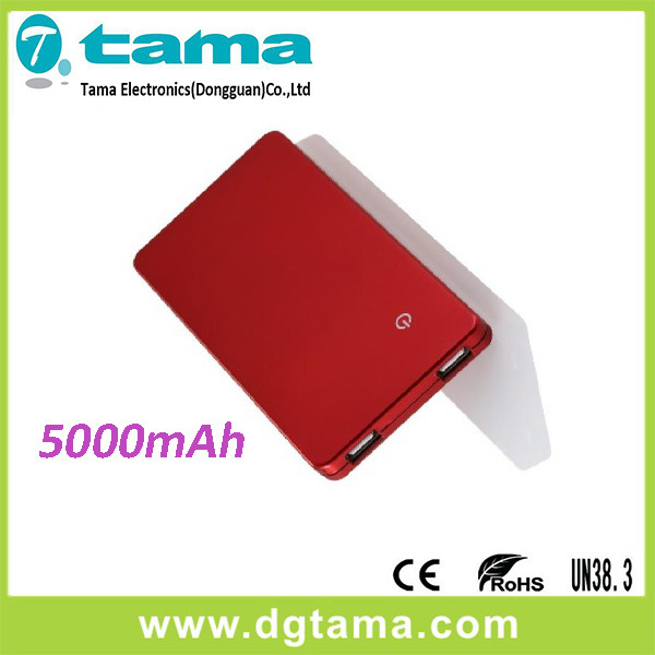 5000mAh Powerbank and Smart Phone Backup Battery with Touch Switch
