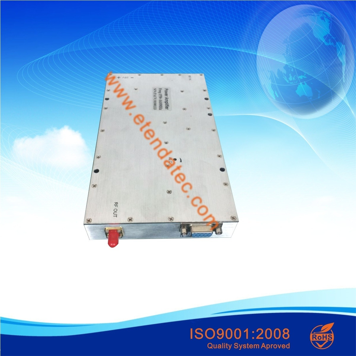 100W 50dB 500MHz to 2500MHz Pulse Working RF Broadband Power Amplifier