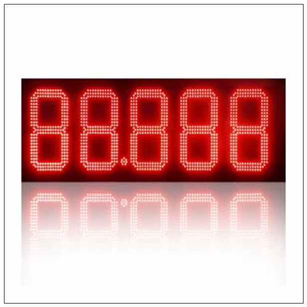 24 Inches Red Color Diesel/Regular/Cash/Credit/Unleaed Outdoor Wateproof IP65 RF Wireless LED Gas Price Sign