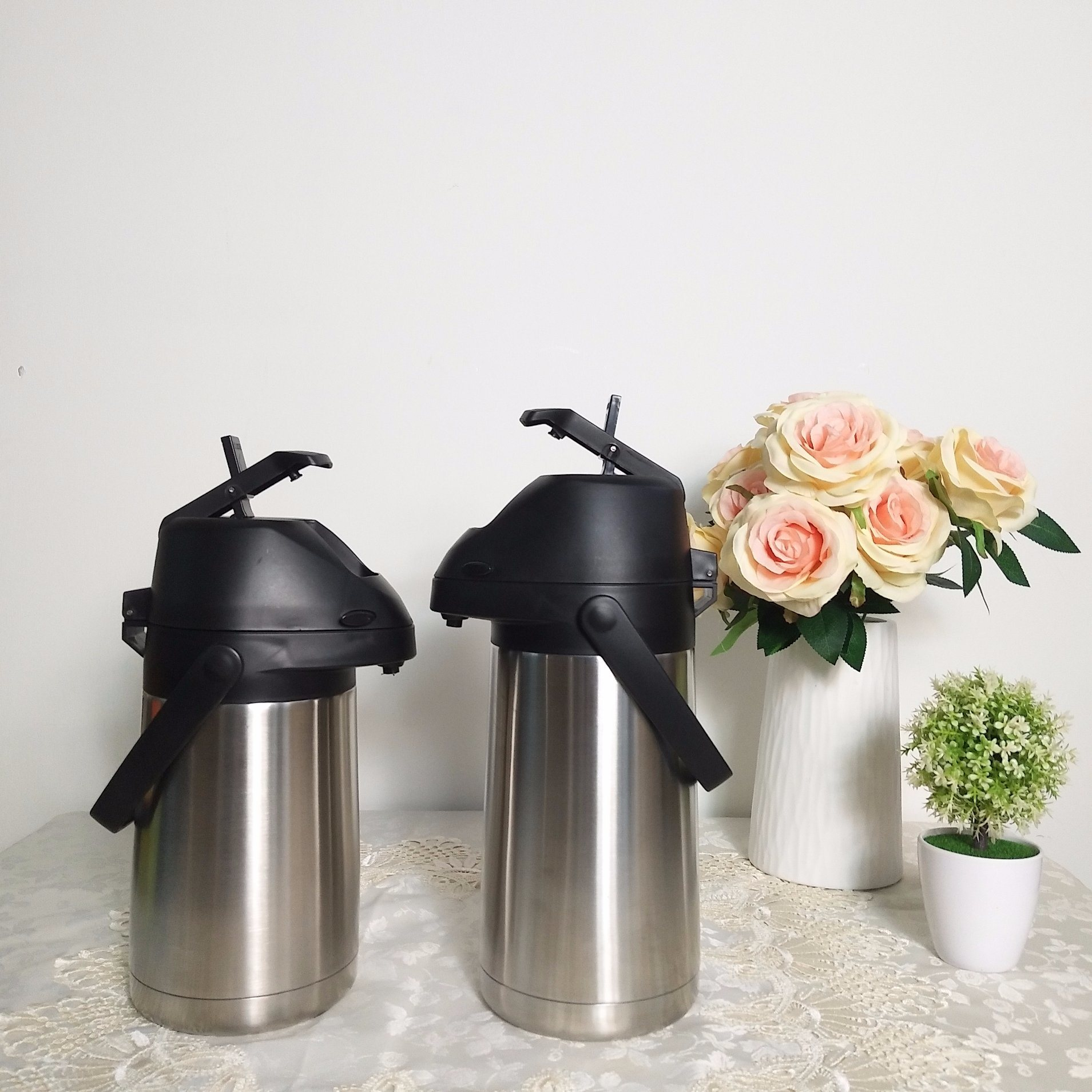Insulated Vacuum Airpot Thermos Flask with Lever