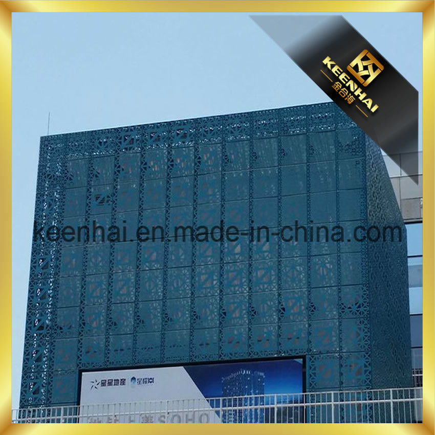 Architectural Laser Cutting Exterior Building Panels Aluminum Curtain Wall