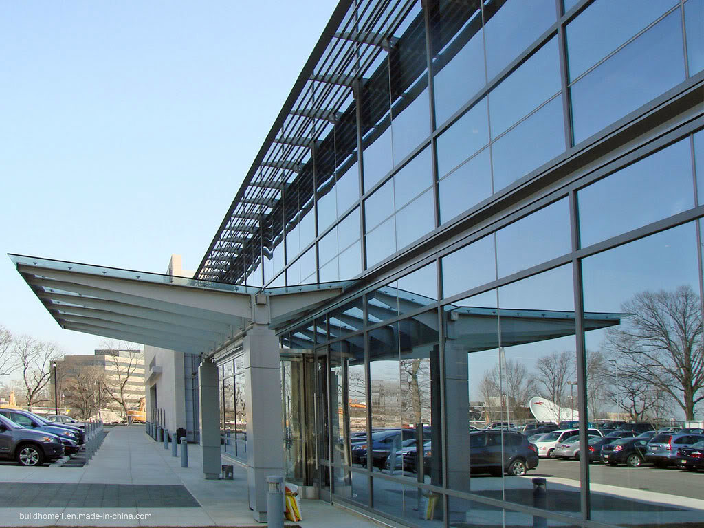 Hidden Frame Systems Thermally Broken Double Glass Aluminium Curtain Wall