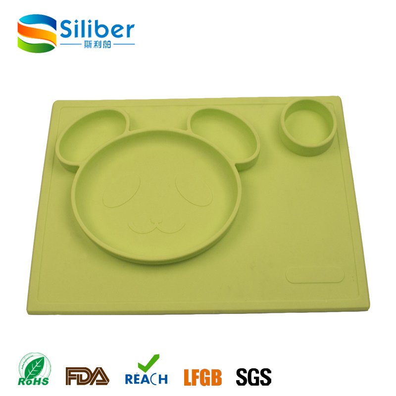One-Piece Food Grade Silicone Infant Placemat Baby Feeding Placemat