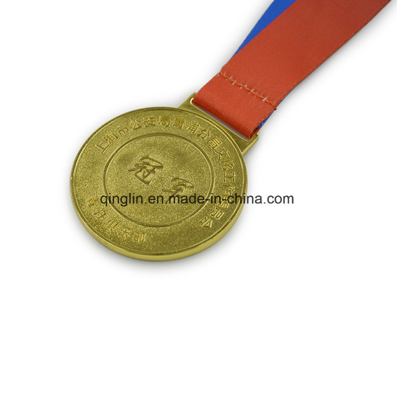 Hot Selling Custom Round Shape Gold Plated Medallion