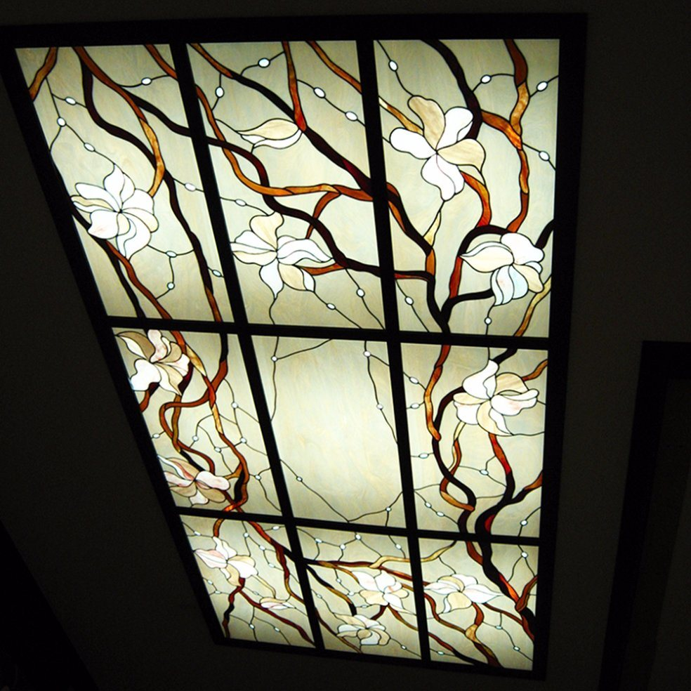 Decoration Fashion Styles Stained Glass Ceiling Lamp