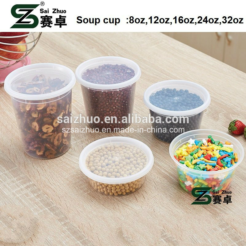 710ml (24oz) Disposable Plastic Soup Bowl