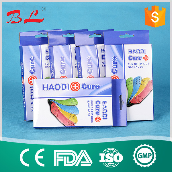 Skin Color Elastic Fabric Band Aid Wound Plaster Surgical Plaster Band Aids (BL-015)