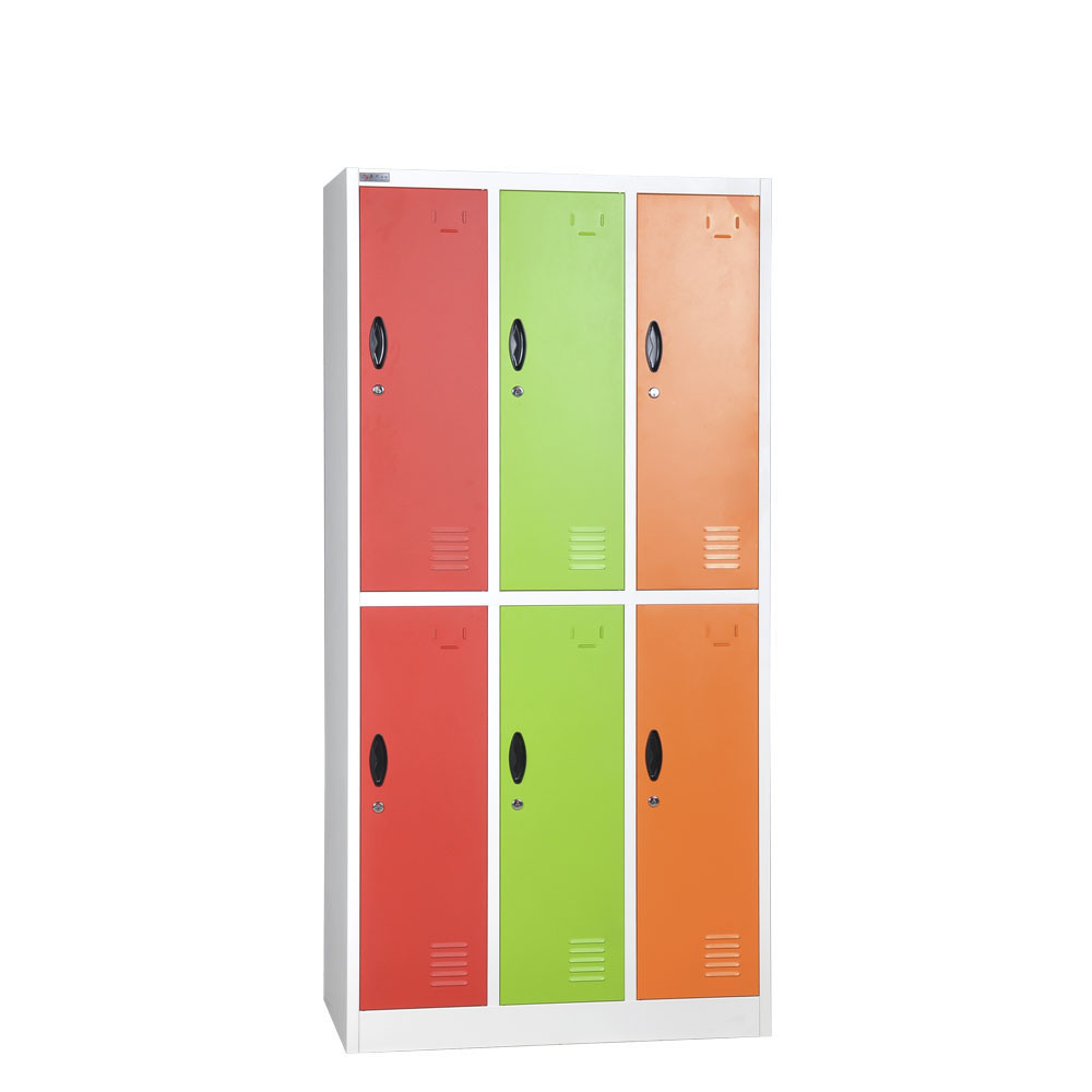 Yellow 6 Door Metal Storage Locker