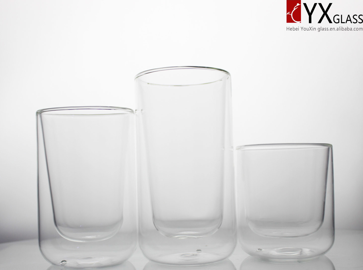 350ml Double Wall Glass Coffee Cup/Double Wall Glass Thermos Coffee Cup/Double Wall Glass Tea Cup