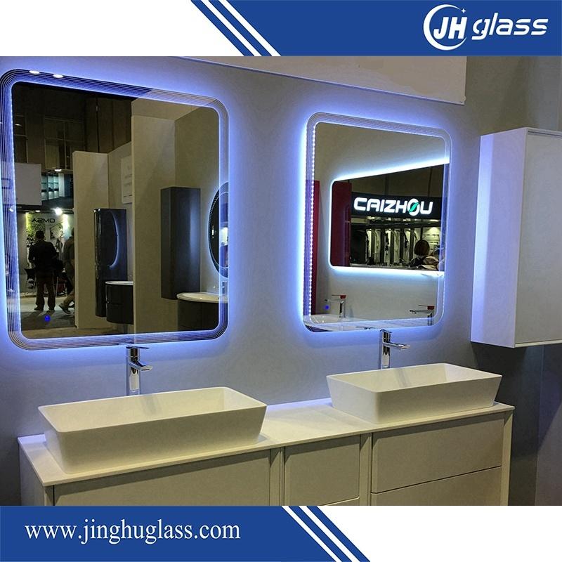 Bathroom Frameless LED Illuminated Bordered Mirror with Touch Sensor Infrared Sensor
