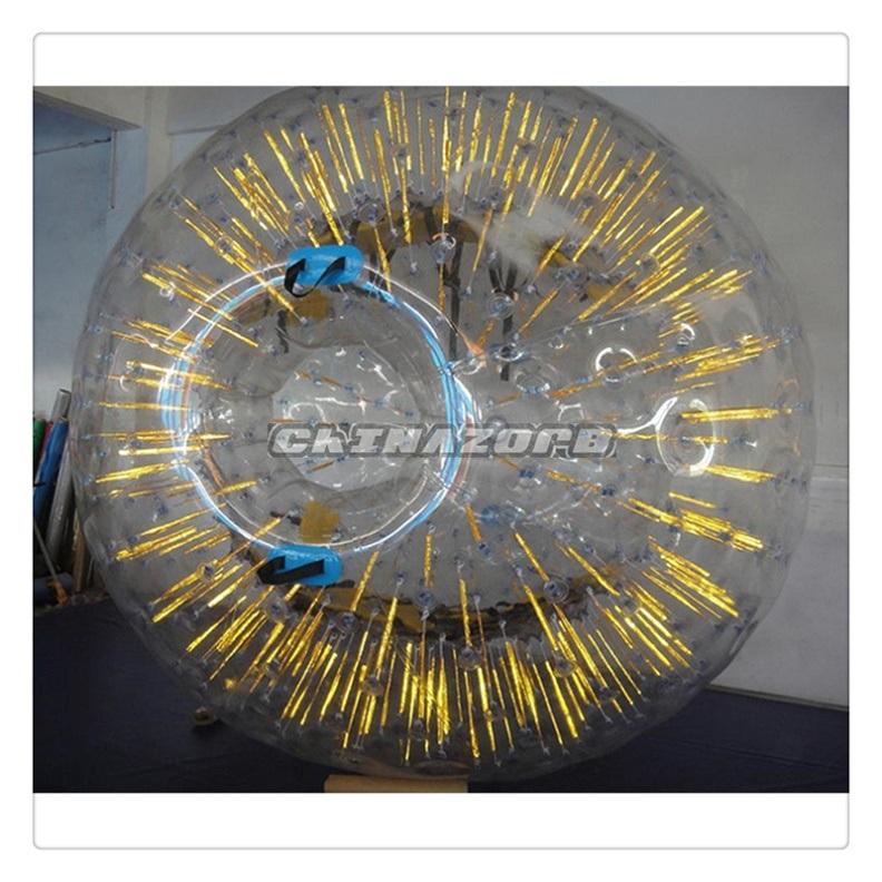 Top Quality PVC/TPU Yellow Color Shining Inflatable Zorb Ball