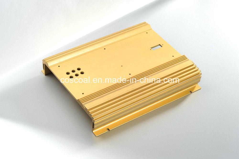 Aluminum/Aluminium Profile Extrusion for Car Amplifier Enclosure with ISO9001 Certificated