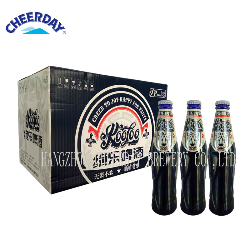 300ml OEM Brewery Abv3.6% Alcoholic Beverage Beer in Blue Glass Bottle