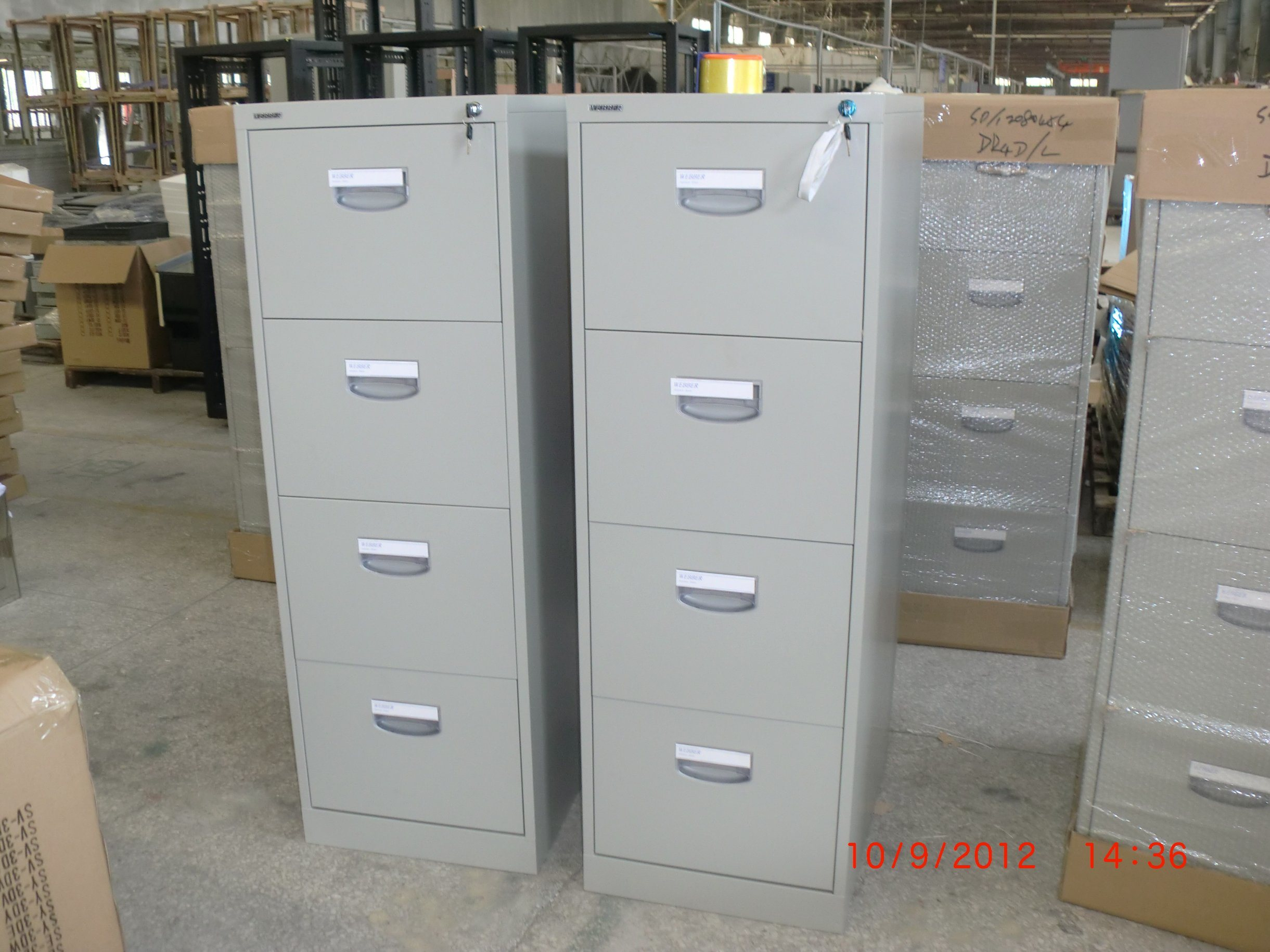 Vertical Filing Cabinets with Oval Door Handle (DR4D)