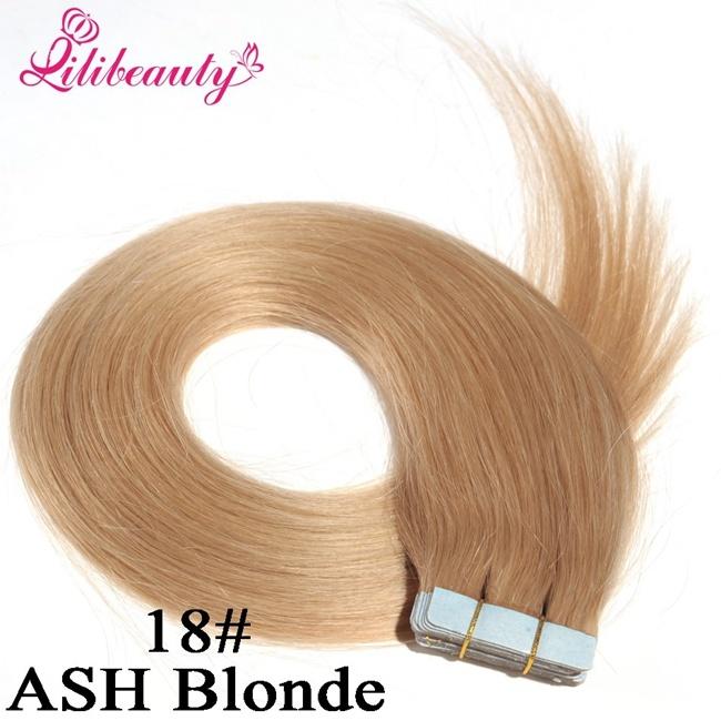 2016 Fashion Natural Brazilian Tape Hair Virgin Human Hair Extension