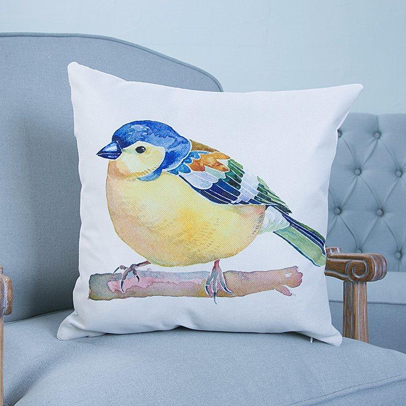 Digital Print Decorative Cushion/Pillow with Birds Pattern (MX-41)