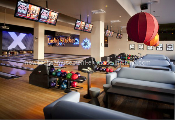 Electronic Entertainment for Bowling Equipment