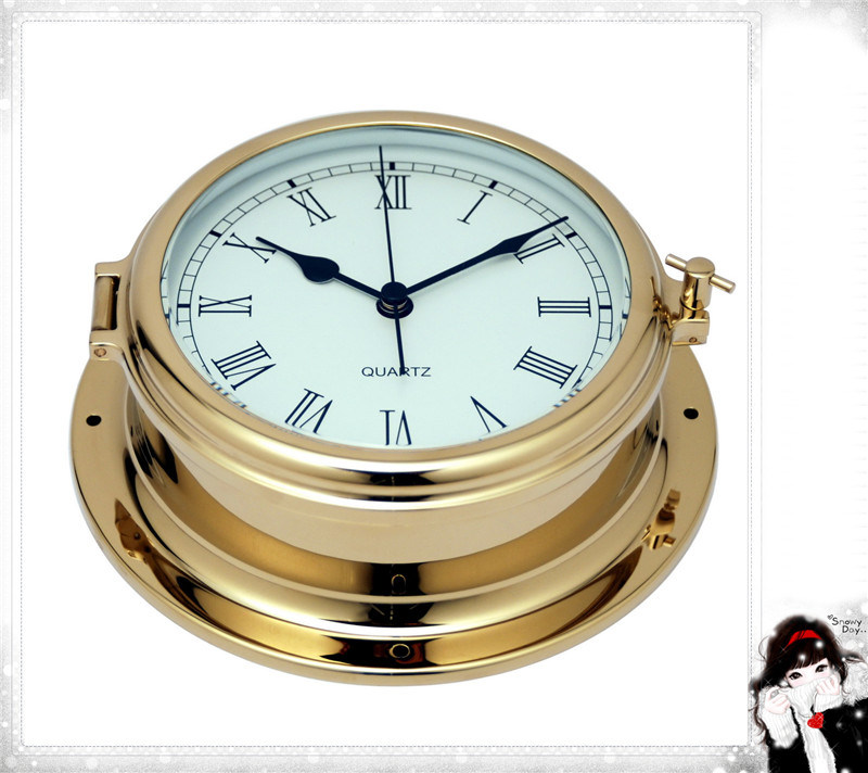 Gl195 Roman Dial 180mm Nautical Quartz Clock