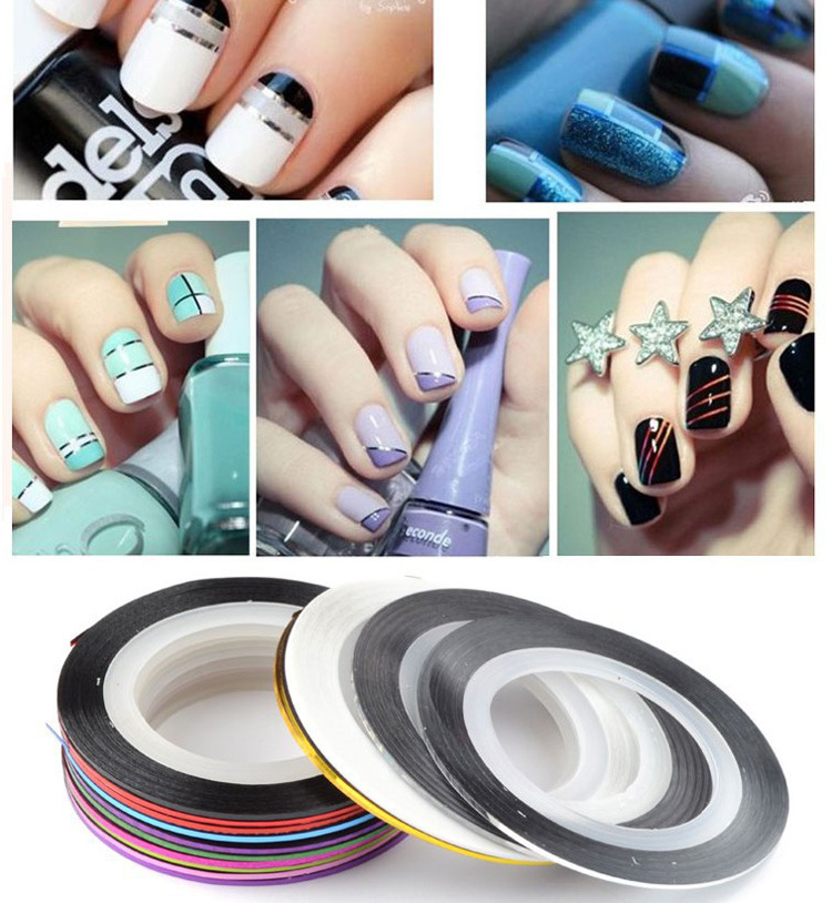 Nail Art Strip Tape Rolls Striping Tape Line DIY Nail Art Design Tips Decoration Sticker Nail Art