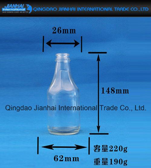 Transparent Glass Bottle Glassware for Sesame Oil