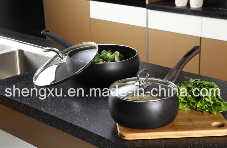 Alloy Aluminium Coated Non-Stick Soup Milk Pot Cookware Sets Sx-A025