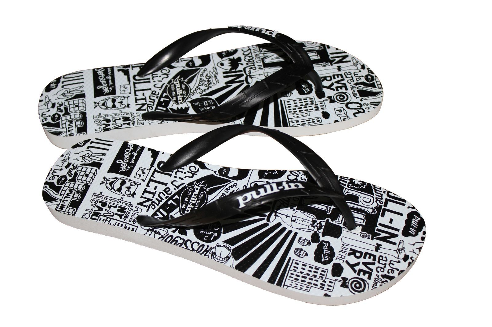 Last Fashion Rubber Colorful Printing Flip Flops