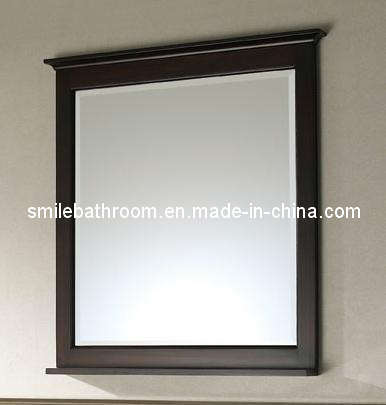 Bathroom Mirror, Wood Mirror, Bathroom Vanity Mirror  China Bathroom