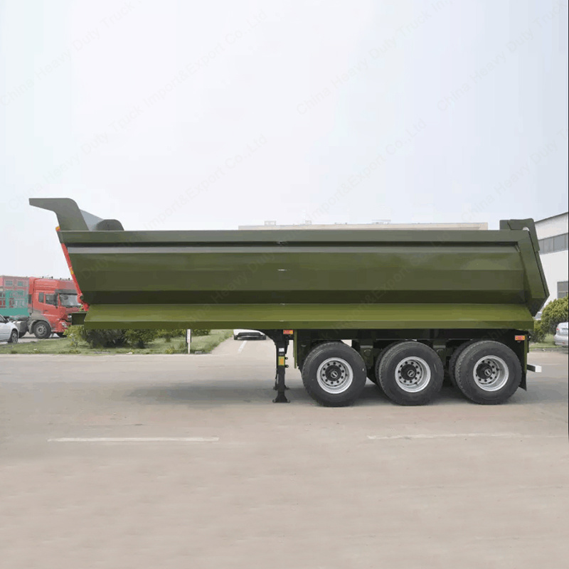 60ton 3axles Tipper Trailer Tractor Dump Trailer for Sale