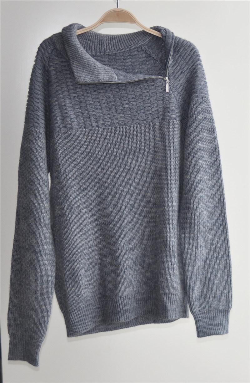 Winter Patterned Long Sleeve Knitting Pullover for Men