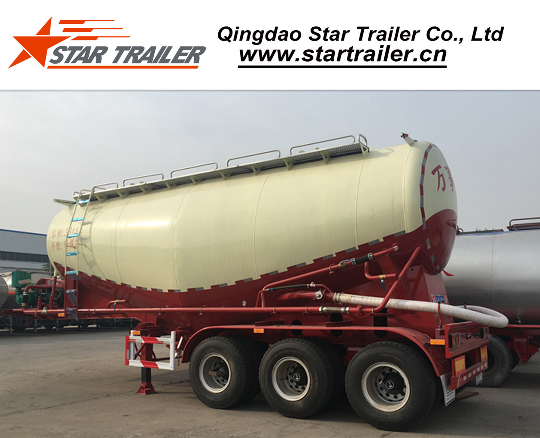 48 Cbm 3 Axles Cement Tanker Semi-Trailer