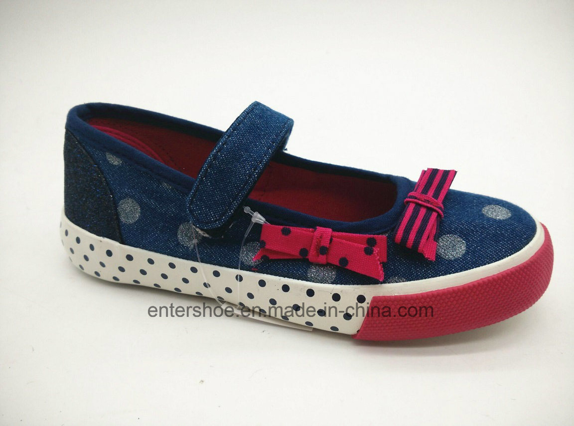 Spring New Design Low Cut Girl′s Dancing Shoes with Bowknot (ET-OW160179K)
