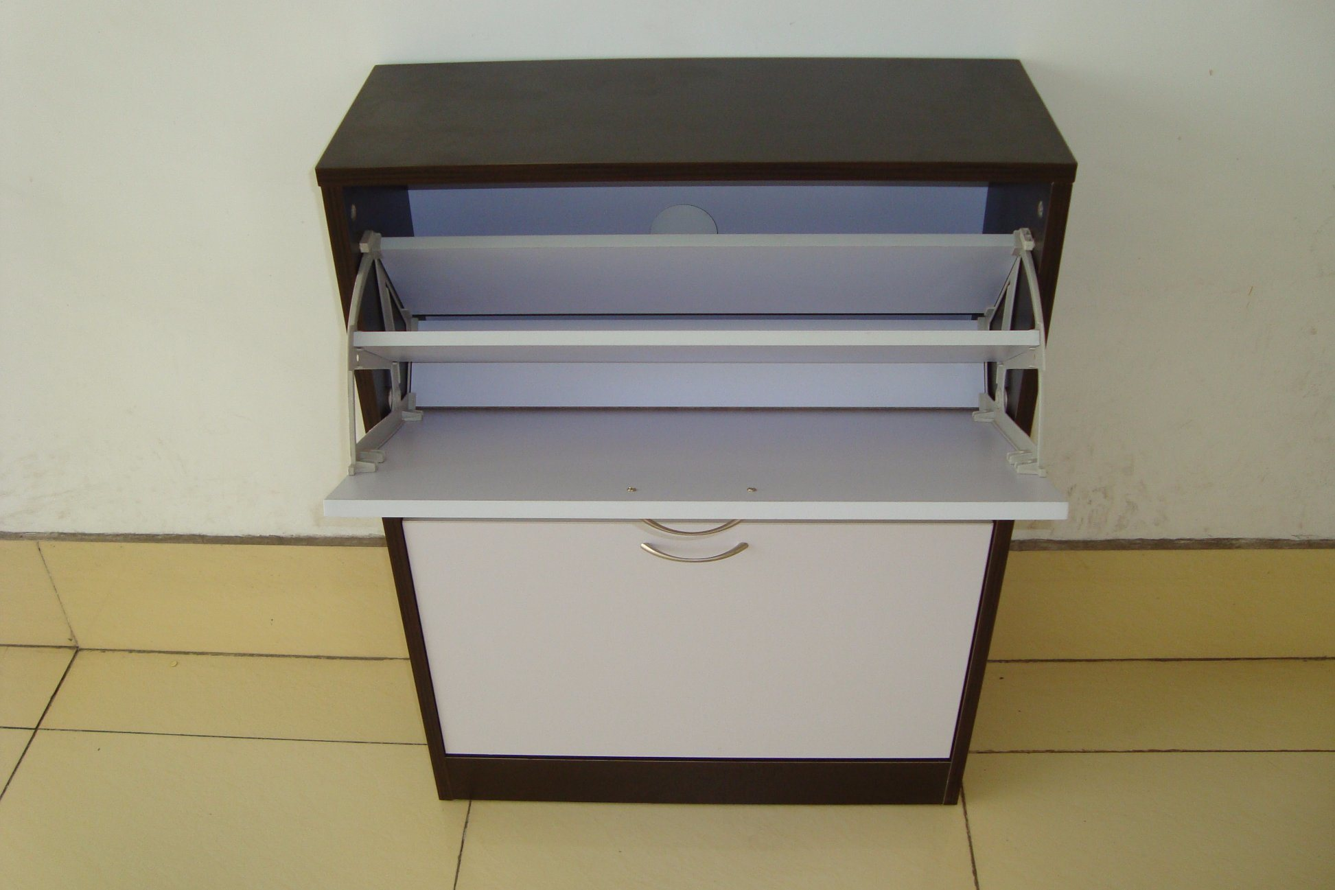 Shoe Cabinet/Panel 4 Tier Shoe Rack Cabinet