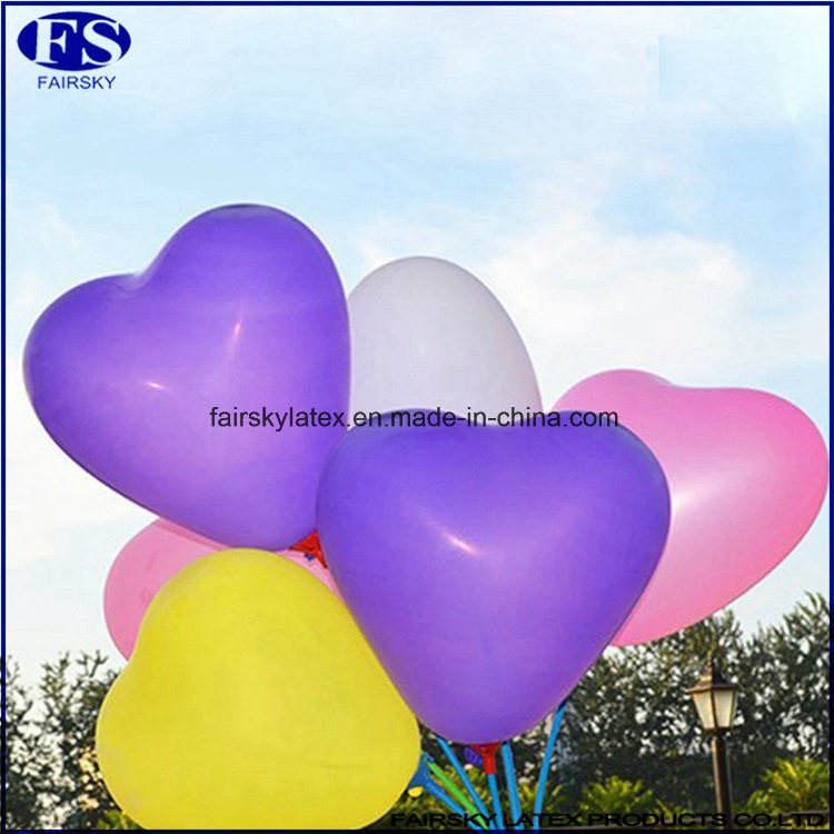 Natural Latex Balloon, Heart-Shaped Balloon-ISO Factory