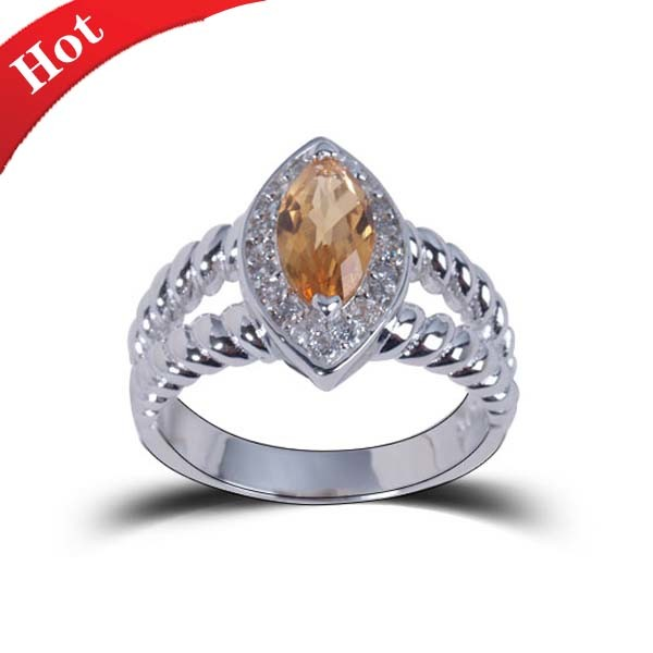 2014 Fashion Natural Stone Jewelry Rings Personalized Silver Jewelry Memorial