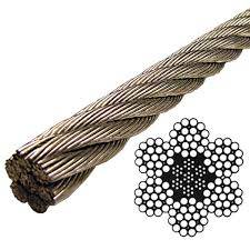 Stainless Steel Aircraft Cable 7x7, 7x19