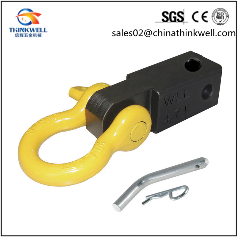 Recovery Trailer Hitch Receiver Shackle D Ring Mounted