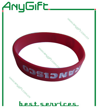 Silicon Wristband with Customized Color and Logo (LAG-WB-01)