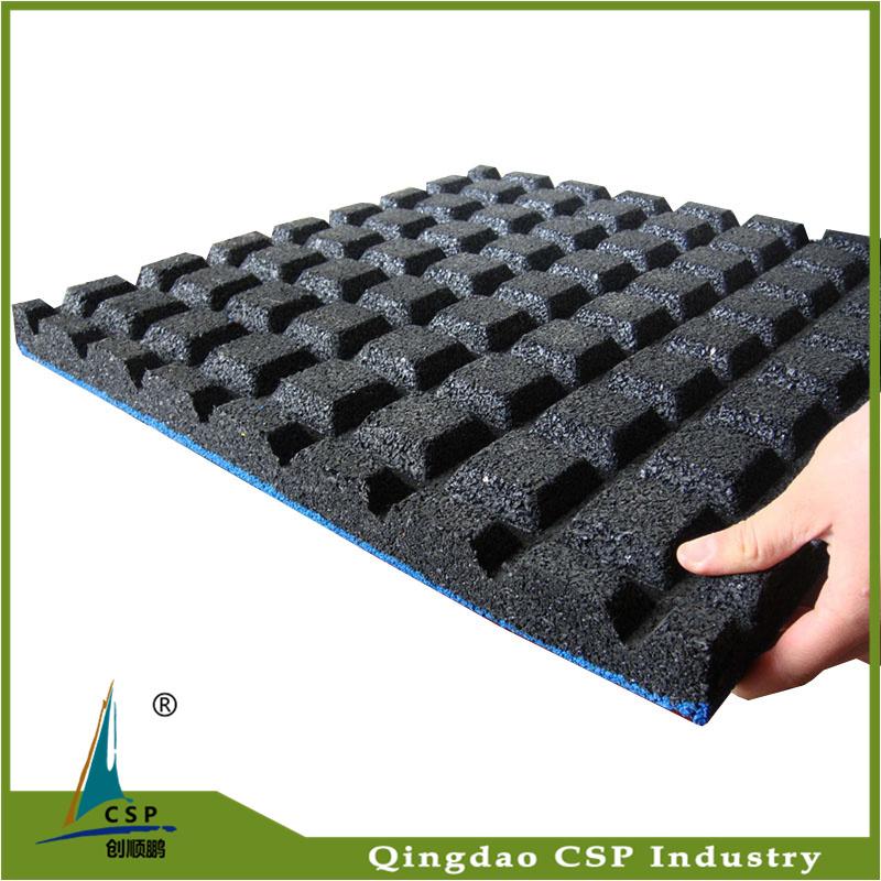 Wear Resistant Non Slip Shockproof Rubber Mat Floor