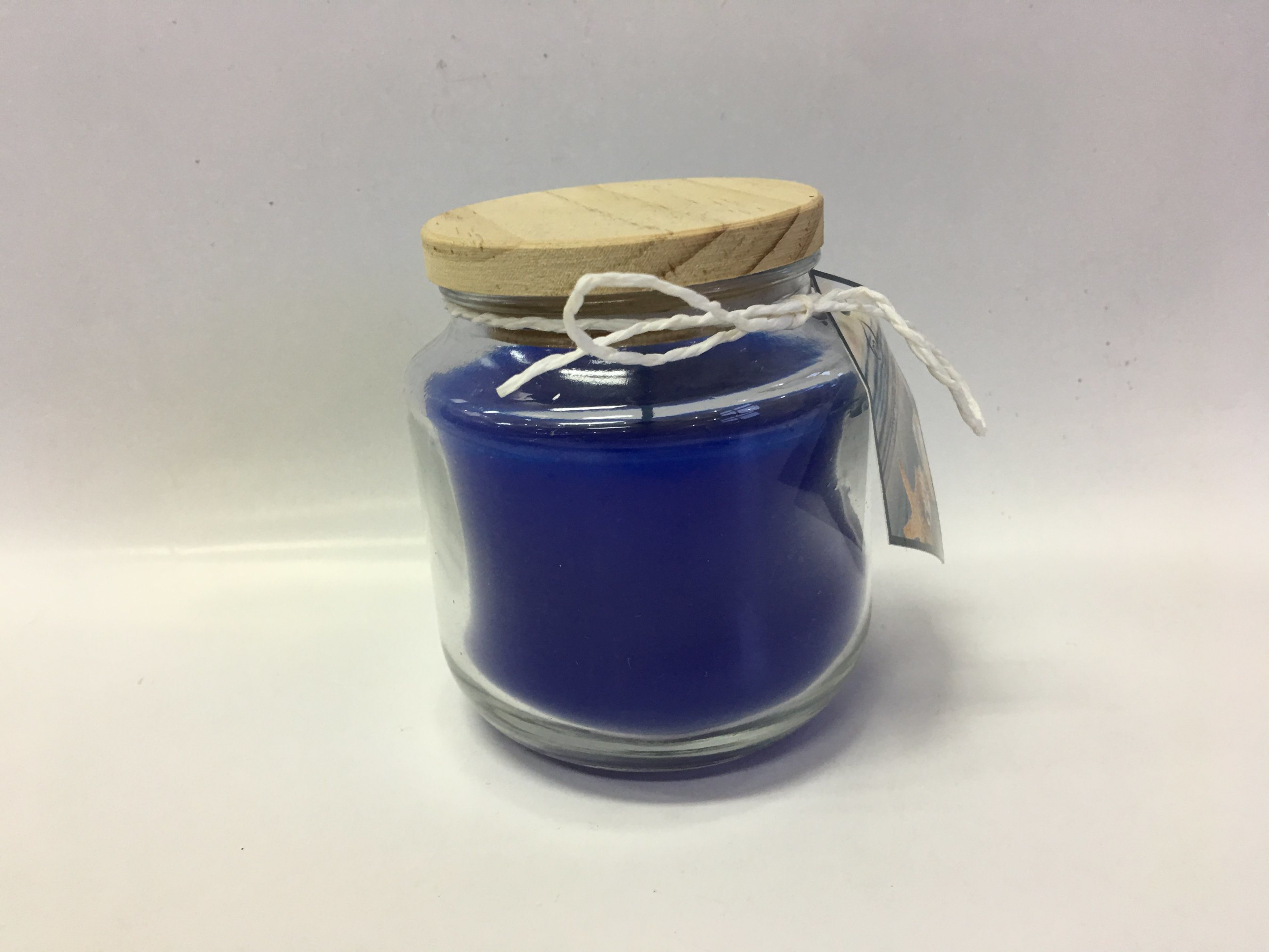 Customized New Disign Blue Scented Candle with The Wood Lid.
