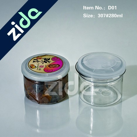 Pet Plastic Cylinder Container Plastic Tin Can for Medicine and Food