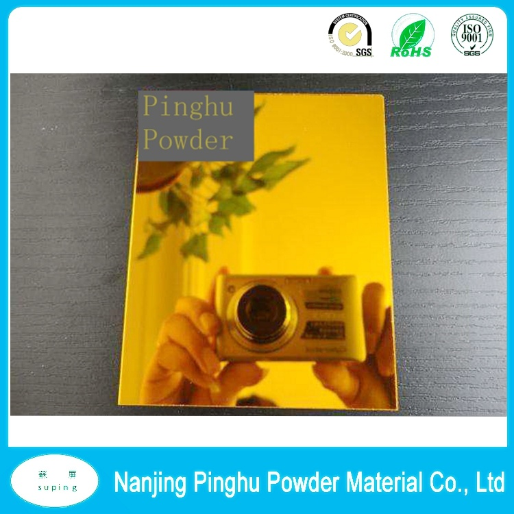 Highly Protective Candy Transparent Clear Gold Thermoset Powder Coating